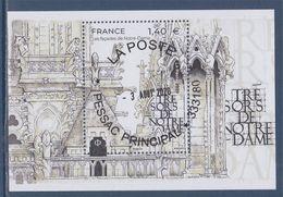 Bloc 1 Timbre Oblitéré De 1.40€ Trésors De Notre Dame De Paris, Les Façades - Sheetlets