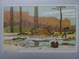 """Carte Postale Amédée Lynen """"De-ci De-là"""" N° 8 Uccle - Ramasseur De Bois Mort - Lynen, Amédée-Ernest"""