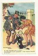 Humour. Chasseur Et Lapin Avec Une étiquette. Signée Jean Chaperon. 1963. Editions G. Picard - Humor