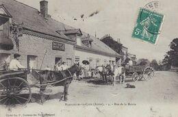 (02) NAMCELLES-LA-COUR (118 H) Rue De La Mairie (Belle Animation Beau Plan: Carrioles à Chevaux / Boucherie Noé RENAULT) - Frankreich