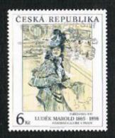 REP. CECA (CZECH REPUBLIC) - SG 116 - 1995  ART: PARISIENNE (L. MAROLD)  -   USED - República Checa