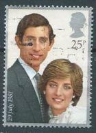 GROSSBRITANNIEN GRANDEGB  1981 Royal Wedding: Prince Charles And Lady Diana Spencer  25p. SG 1161 SC 951 MI 885 YV 1002 - 1952-.... (Elizabeth II)