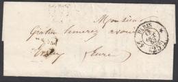 """France 1852 - Précurseur De Paris à Destination Evreux.  La Poste à Paris"""" ...   (VG) DC-7841 - France"""