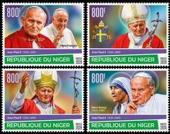 NIGER 2020 - John Paul II, Mother Teresa 4v. Official Issue [NIG200124c] - Mother Teresa