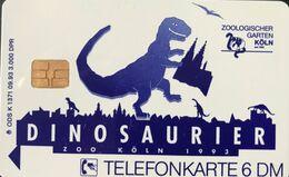 ALLEMAGNE  -  Phonecard  - Dinosaurier Zoo Köln  -  6 DM - Deutschland