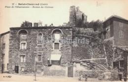Saint Chamond - Place De L'Observatoire - Ruines Du Chateau - Castle Ruins - 21 - Old Postcard - 1922 - France - Used - Saint Chamond