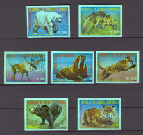 Equatorial Guinea Nature Protection - Animals Of North America IMPERFORATE MNH (T982) - Guinea Equatoriale