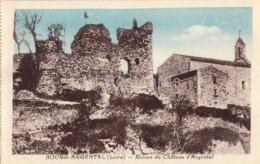 Bourg Argental - Ruines Du Chateau D'Argental - Castle Ruins - Old Postcard - France - Unused - Bourg Argental