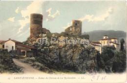 Saint Etienne - Ruines Du Chateau De La Rochetaillee - Castle - 25 - Old Postcard - France - Unused - Rochetaillee