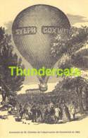 CPA ASCENSION DE M GLAISHER DE L'OBSERVATOIRE DE GREENWICH EN 1862 BALLON - Globos