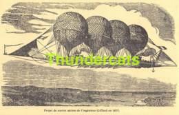CPA PROJET DE NAVIRE AERIEN DE L'INGENIEUR GIFFARD EN 1855 BALLON - Globos