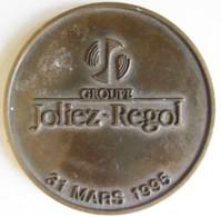 Médaille JOLIEZ REGOL 1995, 20eme Anniversaire Du Groupe – Assurance. - Francia