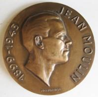Médaille Jean Moulin 1899 – 1943. Organisateur De La Resistance, Par Courbier - Francia