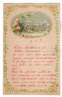 VP17.238 - Lettre Illustrée Papier Gaufré Double Page Avec Découpi Fleurs & Oiseaux - Melle J. PRIGNAULT à FOUDON ? - Flowers