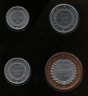 CAMBODIA LOT MONNAIES 4 COINS 50-100-200-500 RIELS 1994 - Cambogia