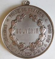 Médaille Ville De Beziers (Hérault) Souvenir. Concours Musicale Mai 1886 - Lyre - Francia