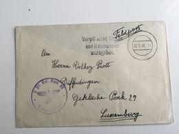 Luxembourg Lettre 1942 Feldpost - 1940-1944 Occupation Allemande