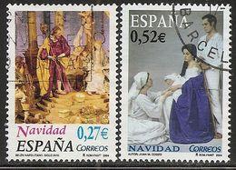 2004-ED. 4128 Y 4129 -SERIE NAVIDAD COMPLETA-USADO - 1931-Heute: 2. Rep. - ... Juan Carlos I