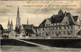 CPA Speyer Luitpoldplatz Mit Marlenhelm Und Blick Zur Josef GERMANY (921610) - Speyer