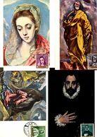 Serie Nº  1330/9 El Greco  Matasellos Especial  Exposicion De Gracia  Tarjeta Maxima - Tarjetas Máxima