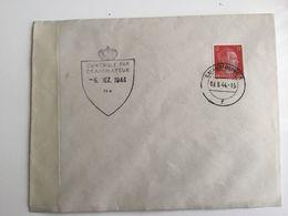 Luxembourg Lettre 1944 Avec Censure - 1940-1944 Occupation Allemande