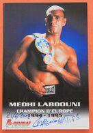 BOXE : Medhi Labdouni , Champion D'Europe, Avec Dedicace, Autographe - Boxe