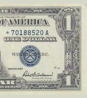 1957 UNITED STATES SILVER CERTIFICATE $1 **STAR NOTE** (( GEM UNC )) - Certificati D'Argento (1928-1957)