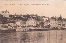 Château Gontier   275        Quai De Lorraine Et Port - Chateau Gontier
