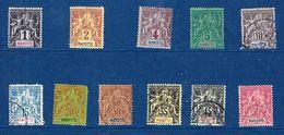 """Mayotte YT 1 à 7 9 11 18 19 """" Série """" 1892-1907 Neuf*/oblitéré - Neufs"""
