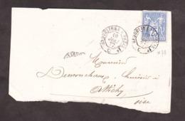 Mai 1877 - Ambulant Jour Erquelines à Paris Sur N° 78 Pour Attichy (Oise) - 1877-1920: Période Semi Moderne