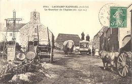 LACHAMP RAPHAEL . QUARTIER DE L'EGLISE + AUTOMOBILE FEUILLERAS - Autres Communes