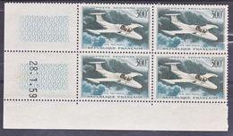 """France PA  35 """"Paris"""" Bloc De 4 Coin Daté 28 1 1959  Neuf ** TB MNH Cote 40 - Poste Aérienne"""