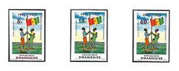 COB N° 461/463 Référendum Kamarampaka  Non Dentelé Côte 15.00€ XX MNH - Rwanda