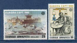 Grèce - YT N° 1491 Et 1492 - Neuf Sans Charnière - 1983 - Griechenland