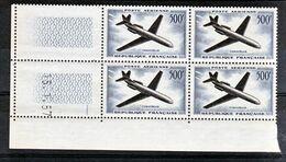 France PA  36 Caravelle Bloc De 4 Coin Daté 15 1 1957  Neuf ** TB MNH Cote 150 - Poste Aérienne