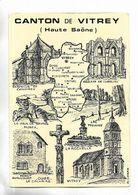70 - Carte Géographique Et Divers Dessins Du Canton De VITREY ( Haute-Saône ) Illustration De D. LOGRE - France