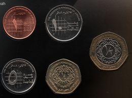 JORDAN COIN SET 5 MONNAIES 1 QIRSH - 1/2 DINAR - Jordan