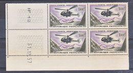 France PA  37 Alouette Bloc De 4 Coin Daté 31 12 1957  Neuf ** TB MNH Cote 360 - Poste Aérienne