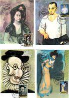 Serie Nº  2481/8 Pablo Picasso  Matasellos Especial Homenaje A Picaso  Tarjeta Maxima - Tarjetas Máxima