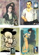 Serie Nº  2481/8 Pablo Picasso  Matasellos Especial Homenaje A Picaso Malaga  Tarjeta Maxima - Tarjetas Máxima