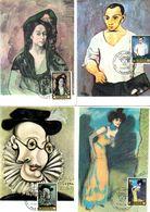 Serie Nº  2481/8 Pablo Picasso  Matasellos Especial Homenaje A Picaso Palencia  Tarjeta Maxima - Tarjetas Máxima