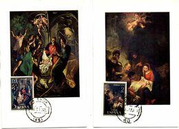Serie Nº  2002/3  Navidad 1970 Matasellos Valencia  Tarjeta Maxima - Tarjetas Máxima