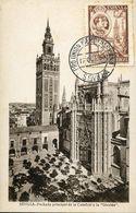 "56495 Spain, Maximum 12.10.1930 Sevilla Cathedral  ""giralda"" Of Sevilla,  Architecture - Tarjetas Máxima"
