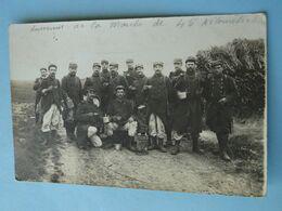 """CHARTRES -- Carte-photo -  Section Du 102ème Régiment D'Infanterie """"Souvenir Marche De 45 Kms"""" 1915 - Régiments"""