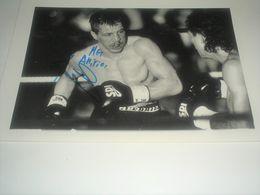 Photo Boxe  Signé Par  THIERRY JACOB , Champion Du Monde , Authographe Dédicasse Signature - Autres