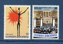 Grèce - YT N° 1507 Et 1508 - Neuf Sans Charnière - 1983 - Griechenland