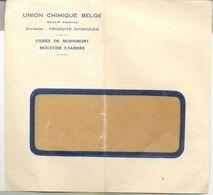 MOUSTIER-MORNIMONT   Enveloppe Union Chimique - Belgio