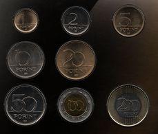 HUNGARY COIN SET 8 MONNAIES 1-2-5-10-20-50-100-200 FORINT 1994-2010 - Hungría