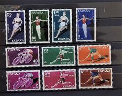 07 - 20 - Espagne - N° 987 à 996 **  - MNH -  Sport  - Série Complète - 1931-Heute: 2. Rep. - ... Juan Carlos I