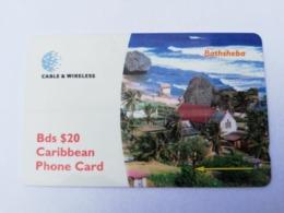 BARBADOS   $20-  Gpt Magnetic     BAR-263G  263CBDG    BATHSHEBA    Very Fine Used  Card  ** 2917** - Barbades